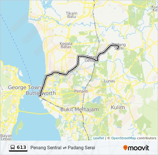 Peta Laluan bas 613