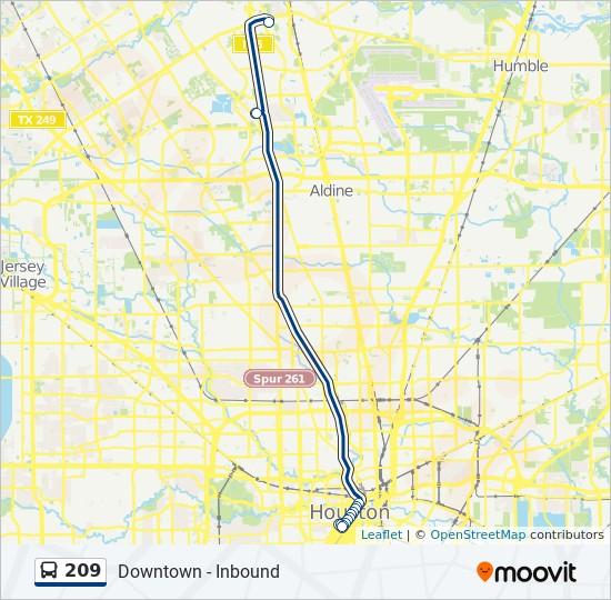 209 bus Line Map