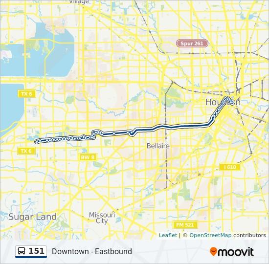 151 bus Line Map
