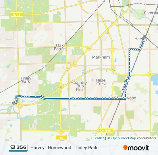 356 Route Time Schedules Stops Maps East