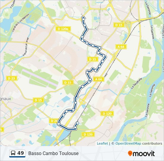 Ligne 49 Horaires Stations Plans Basso Cambo Toulouse