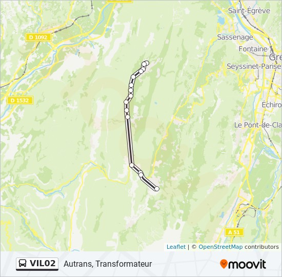 Ligne Vil02 Horaires Stations Plans Autrans Transformateur
