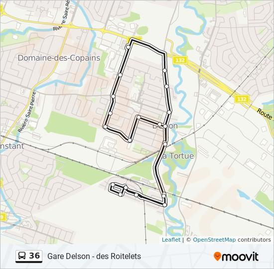 Plan de la ligne 36 de bus