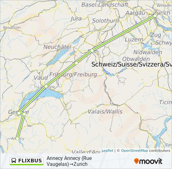 Flixbus Route Time Schedules Stops Maps Annecy Annecy Rue Vaugelas Zurich
