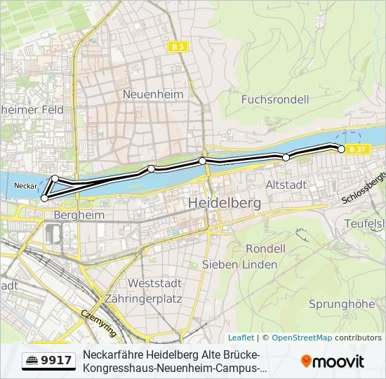 Linie 9917 Fahrplane Haltestellen Karten Alte Brucke Campus Dlrg Alte Brucke