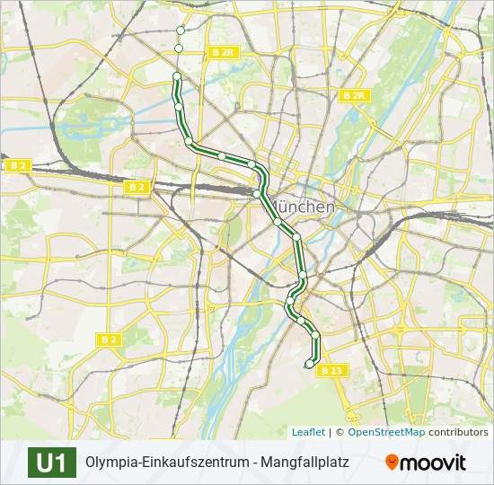 U1 subway Line Map