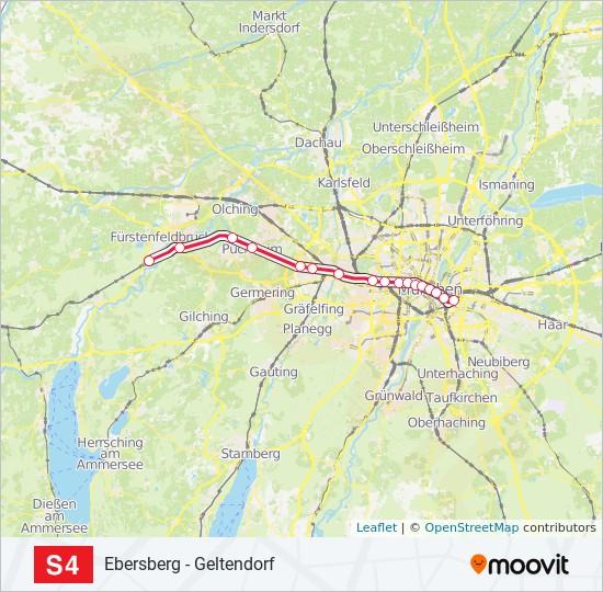 S-Bahn Linie S4 Karte