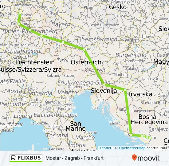 Flixbus Route Time Schedules Stops Maps Mostar