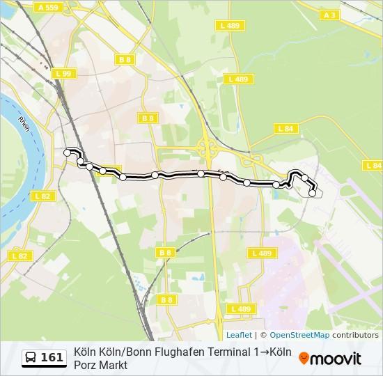 161 bus Line Map