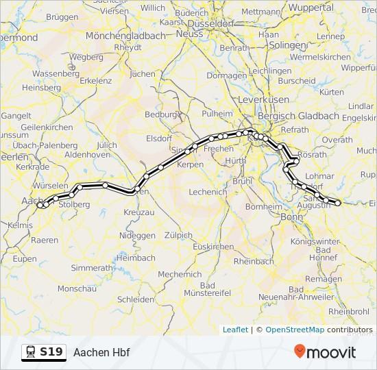 S19 Köln Fahrplan