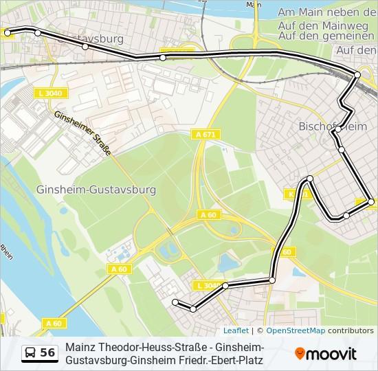 56 bus Line Map