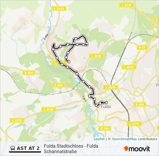 AST AT 2 otobüs Hat Haritası