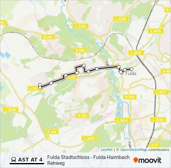 AST AT 4 otobüs Hat Haritası