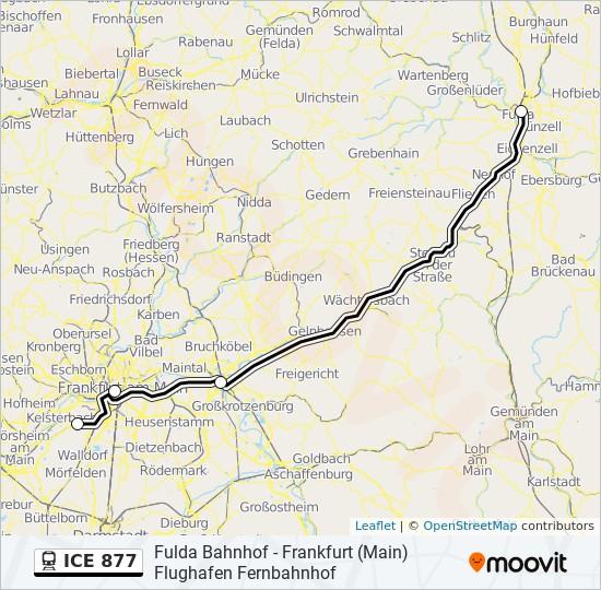 Ice 877 Route Time Schedules Stops Maps Frankfurt Main Flughafen Fernbahnhof