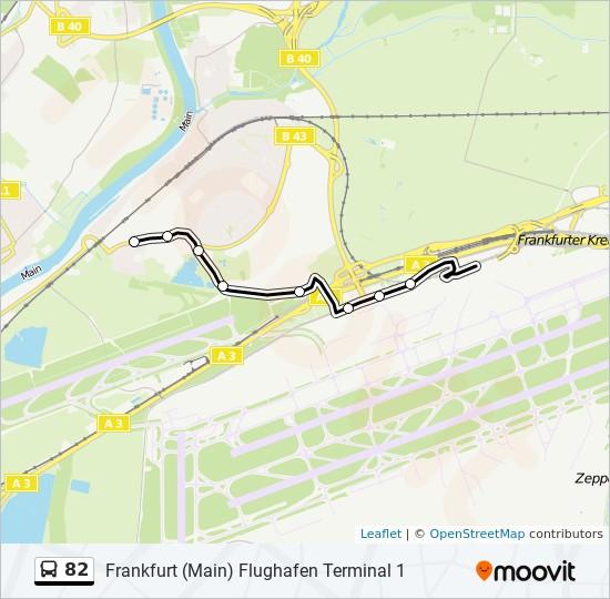 82 bus Line Map