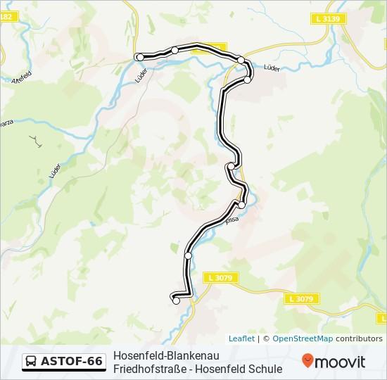 ASTOF-66 otobüs Hat Haritası