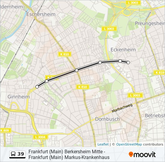 Bus 39 Frankfurt
