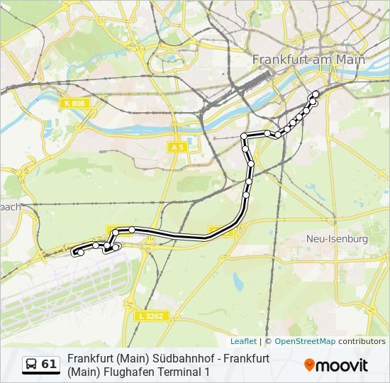 61 Route Time Schedules Stops Maps Frankfurt Main Flughafen Terminal 1