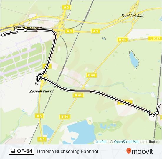 Of 64 Route Time Schedules Stops Maps Dreieich Buchschlag Bahnhof