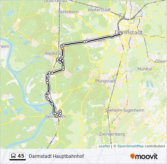 45 bus Line Map