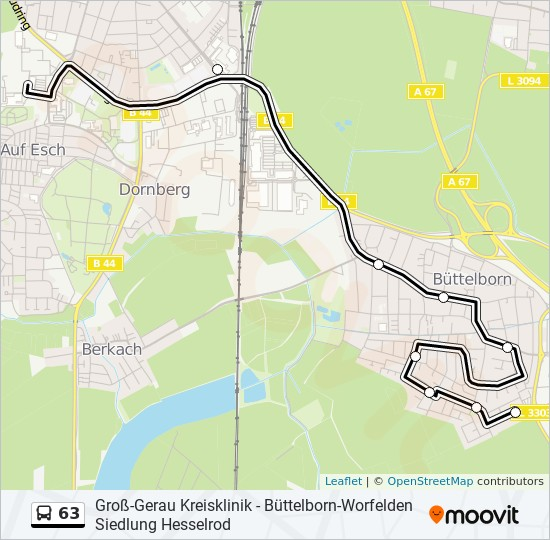 63 bus Line Map