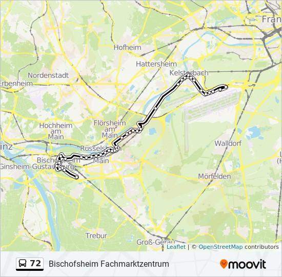 72 bus Line Map