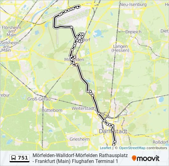 751 bus Line Map
