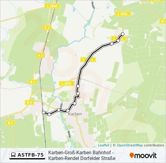 ASTFB-75 otobüs Hat Haritası