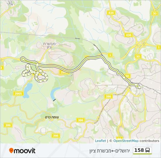 מפת המסלול של קו  158