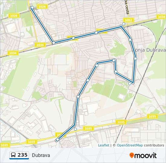 235 Route Time Schedules Stops Maps Dubrava