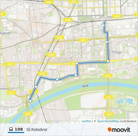 108 Route Time Schedules Stops Maps Gl Kolodvor