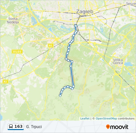 163 Route Time Schedules Stops Maps G Trpuci
