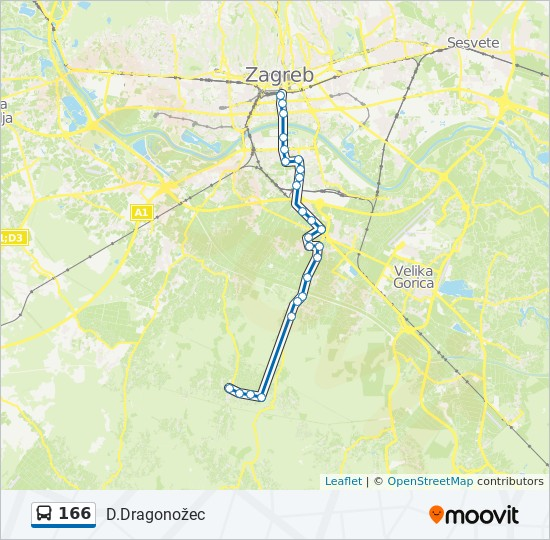 166 Route Time Schedules Stops Maps D Dragonozec