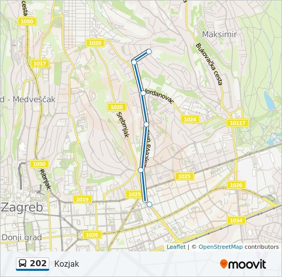 202 Route Time Schedules Stops Maps Kozjak