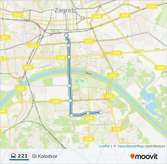 221 Route Time Schedules Stops Maps Gl Kolodvor
