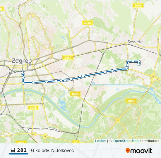 281 Route Time Schedules Stops Maps Gl Kolodvor