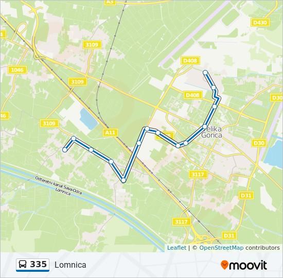 Ruta 335 Vremenski Rasporedi Stanice I Mape Lomnica