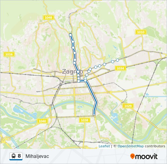 8 Route Time Schedules Stops Maps Mihaljevac