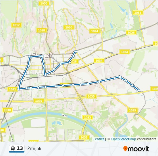 13 Route Time Schedules Stops Maps Zitnjak