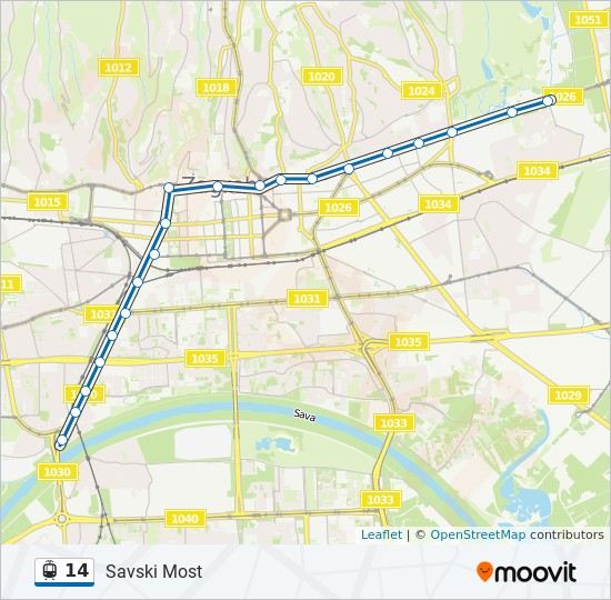 14 Route Time Schedules Stops Maps Savski Most