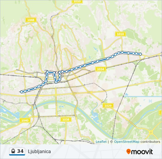 34 Route Time Schedules Stops Maps Ljubljanica