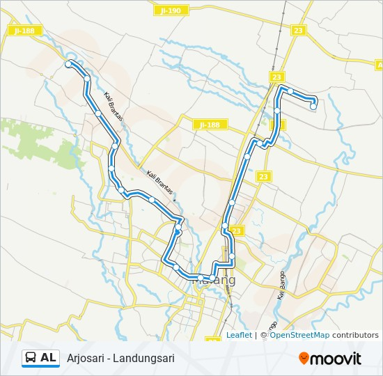 Al Route Time Schedules Stops Maps Arjosari