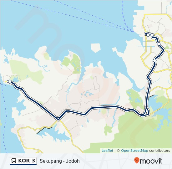 KOR 3 bus Line Map