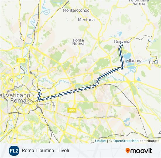Mapa de FL2 de tren