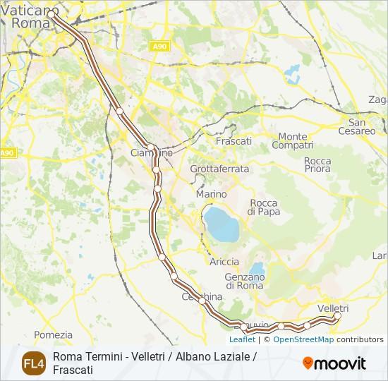 Поезд FL4: карта маршрута