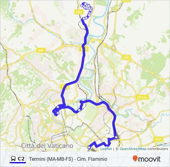 C2 Route Time Schedules Stops Maps Cimitero Flaminio