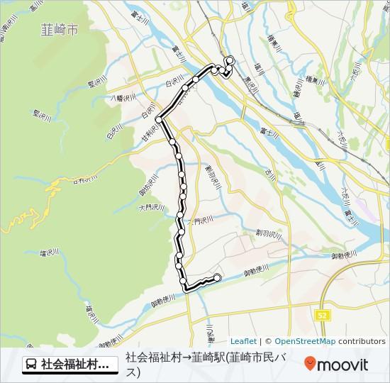 社会福祉村線(韮崎市民バス):社会福祉村 発 韮崎市立病院 行 Route ...