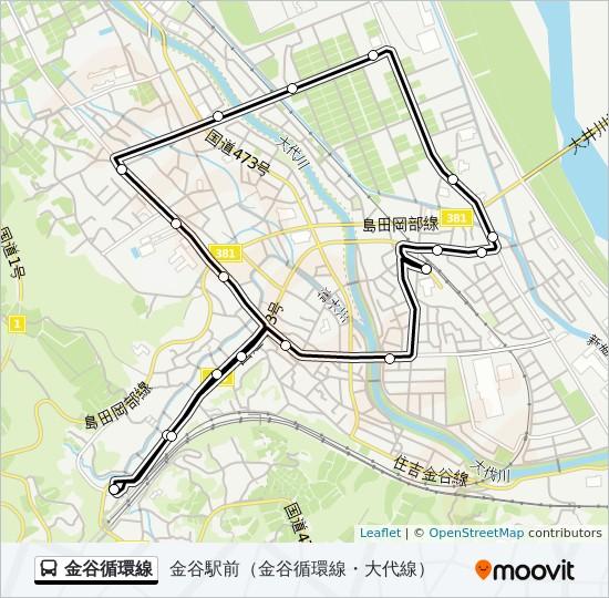 金谷循環線 Route: Time Schedules, Stops & Maps - 金谷駅前(金谷 ...