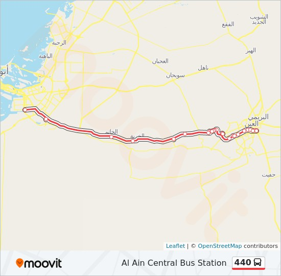 440 Route Time Schedules Stops Maps Al Ain Central Bus Station