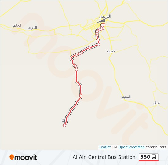 550 Route Time Schedules Stops Maps Al Ain Central Bus Station